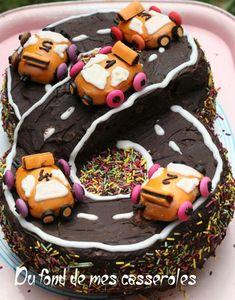 Gâteau circuit de voitures