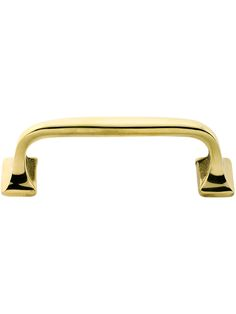 """Brass Drawer Handles. Classic Offset Drawer Pull - 3 1/2"""" Center to Center$9.59"""