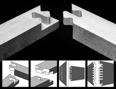 It's not all about #hammersandnails, there are a wide variety of ways to #joinwood. #dovetail https://en.wikipedia.org/wiki/Woodworking_joints