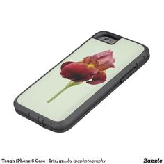 Tough case - Iris, green background  For Samsung galaxy and Iphone Other designs and styles available