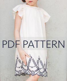 Angelica PDF, dress pattern, girl pdf, dress pdf, pdf sewing pattern, girl top pattern, blouse pattern, girl pattern, flutter sleeves, by JillyAtlanta on Etsy https://www.etsy.com/au/listing/555461394/angelica-pdf-dress-pattern-girl-pdf