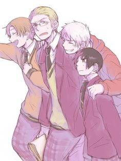 Hetalia (ヘタリア) - The Axis Powers - North Italy, Germany, Prussia, Japan