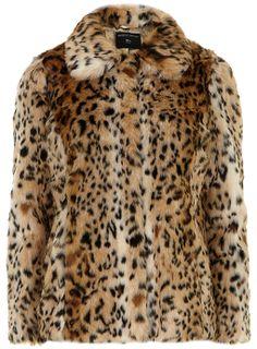 : Dorothy Perkins Faux Fur Leopard Coat ($89, originally $119)