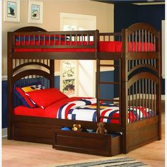 Cool bunk beds for sale home decor waplag kids bedroom feminine pictures of with desk underneath Bunk Beds With Storage, Wood Bunk Beds, Twin Bunk Beds, Kids Bunk Beds, Twin Twin, Bed On Stilts, Kids Single Beds, Atlantic Furniture, Bunk Bed Designs