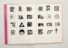 063.jpg (1600×1130) TRADE MARKS & SIMBOLS Volume 1: Alphabetical Designs | YASABURO KUWAYAMA #logo #design #Inspiration #graphic #shape #best #awesome #typography #best #pactice