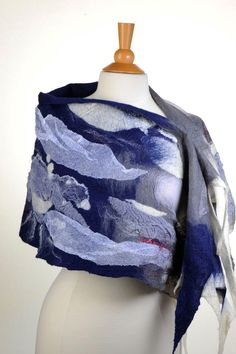 OOAK Felted scarf by ArtInTouch on Etsy https://www.etsy.com/ca/listing/211339913/ooak-felted-scarf