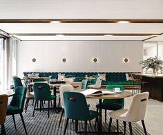 Restaurant and Bars Luxury Restaurant, Restaurant Interior Design, Commercial Interior Design, Cafe Interior, Commercial Interiors, R Cafe, Decoration Inspiration, Restaurants, Hospitality Design