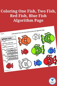 One Fish, Two Fish, Red Fish, Blue Fish Algorithm Page - JDaniel4s Mom Fine Motor Activities For Kids, Printable Activities For Kids, Preschool Learning Activities, Hands On Activities, Book Activities, Teaching Resources, Teaching Ideas, One Fish Two Fish, Red Fish