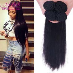 Malaysia Virgin Hair 4 Bundles Straight Human Hair Rosa Hair Products Malaysian Straight Unprocessed Natural color Hair weave