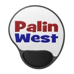 Palin/West Gel Mouse Pad #sarah #palin #allen #west