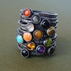 Tiny Stacking Rings  by LunasaDesigns