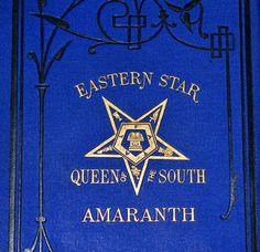 "Complete book of instruction for the Eastern Star and it's higher degrees ""Queen of the South"" and ""Amaranth"". This manual was printed in 1894 and explores the ceremonies, rituals and symbolism of these higher degrees. etsy.com/shop/CosmicLibrary"