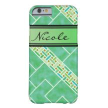 Your name on Catalina Lime Green Barely There iPhone 6 Case