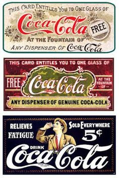 At the fountains of Coca Cola Vintage signs Coca Cola Poster, Coca Cola Drink, Cola Drinks, Coca Cola Ad, Always Coca Cola, Coke Ad, Vintage Coca Cola, Vintage Labels, Vintage Ads
