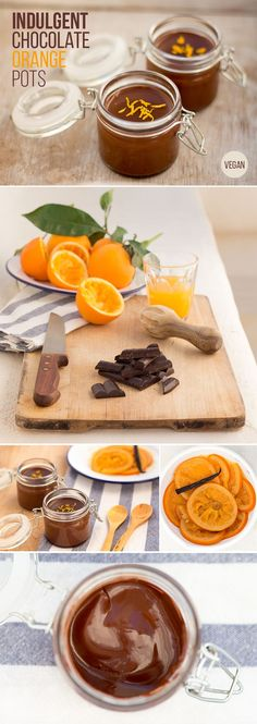 These indulgent chocolate orange pots only need 4 common ingredients and some chilling time.