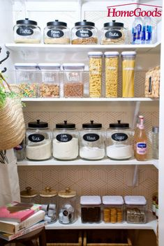 Organizing in Style - HomeGoods Pantry Organization, Organizing, Organized Pantry, Interior Design Living Room, Living Room Designs, Chalk Pens, Home Goods Decor, Home Decor Kitchen, Kitchen Ideas