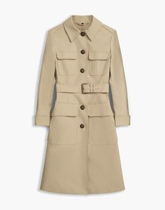 Liv Tyler Allonby Coat - Light Beige Cotton Coats & Jackets