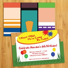 Phineas & Ferb Inspired Birthday Party Invitations