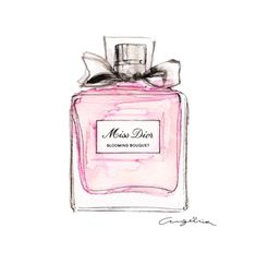 Fashion illustration dior watercolors Ideas for 2020 Parfum Chanel, Dior Perfume, Miss Dior Blooming Bouquet, Shabby Bedroom, Planners, Shabby Chic Christmas, Fashion Illustration Sketches, Beautiful Friend, Bottle Design
