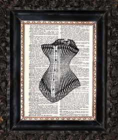 Corset On Dictionary Page Upcycled Book by HeatherMeadOriginals