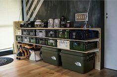 Small Apartment Interior, Garage Interior, Camping Storage, Diy Camping, Japan Room, Garage Storage Shelves, Gun Rooms, Campaign Furniture, Bike Shed