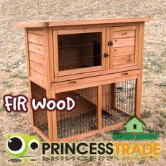 2 Storey Rabbit Guinea Pig Hutch Cage W/Tray Chicken Hen House Ferret Coop House
