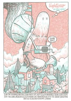 Cool Lightyear gig poster by Luke Drozd.