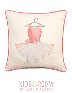 88bf483563 Matilda Collection Hand-Painted Decorative Pillow Ballet Nursery