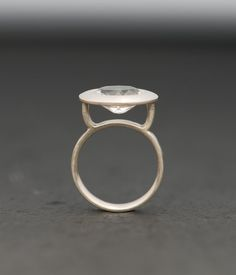 White Topaz Ring  Silver  Size 55 by williamwhite on Etsy, $140.00