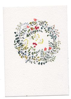Gorgeous delicate wreath by Katrin Coetzer - also for covering books, notebooks or else