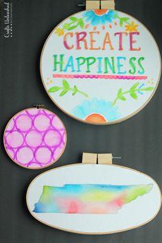 Hoop Art: DIY Watercolor Hoop Decor - Crafts Unleashed