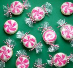 Peppermint Candy Sugar Cookies #Peppermint #Dessert #Christmas