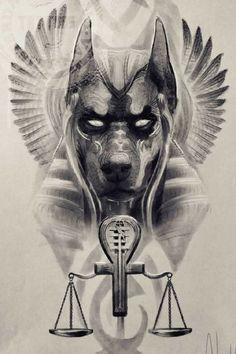 Egypt Tattoo Design, Tattoo Design Drawings, Tattoo Sleeve Designs, Sleeve Tattoos, Anubis Tattoo, Osiris Tattoo, Egyptian Eye Tattoos, Egyptian Tattoo Sleeve, Egyptian Art