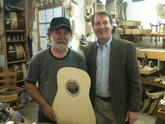 Here I am with master luthier (guitar maker) Wayne Henderson at his shop in Rugby, Va.  Population 7.