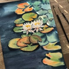 wWtercolor water lilies Water Lilies, Lily, Watercolor, Instagram, Decor, Pen And Wash, Decorating, Watercolour, Watercolor Painting