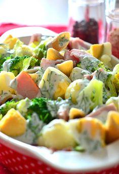 Sałatka makaronowa z brokułami - etap 1