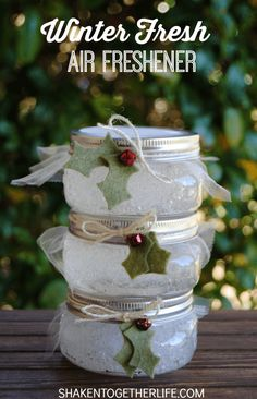 DIY homemade gel air fresheners made with essential oil-- These are incredibly simple to make. It's just polymer absorbent crystals, water, and essential oils. Couldn't be easier.