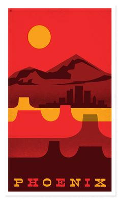 Travel poster have some of the best graphic design around. I've got a sweet spot for Arizona and this poster captures it's essence perfectly.