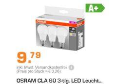 Osram: LED-Leuchtmittel im Dreierpack für 9,79 Euro frei Haus https://www.discountfan.de/artikel/technik_und_haushalt/osram-led-leuchtmittel-im-dreierpack-fuer-9-79-euro-frei-haus.php Für kurze Zeit ist bei Saturn das Dreierpack Marken-LED-Leuchtmittel von Osram zum Schnäppchenpreis von 9,79 Euro frei Haus zu haben. Mit dabei sind die Fassungen E27, E14 und GU10. Amazon: Lindt Lindor im Kilopack für 19,49 Euro (Bild: Saturn.de) Das Dreierpack LED-Leuchtmittel von Osram