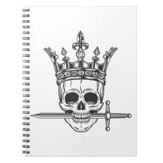 Vintage prince skull in crown with sword print notebook Calf Tattoo Men, Knee Tattoo, Leg Sleeve Tattoo, Best Sleeve Tattoos, Mens Neck Tattoos, Mens Leg Tattoo, Calf Sleeve, Arm Tattoo, Rib Tattoos For Guys