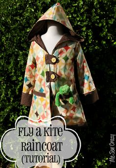 This is a wonderful tutorial for making a coat with a lining with Perfect Seams! I never would have thought of this method for finishing - just lovely!  - Also wonderful instructions for drafting your own pattern from a child's T-shirt - a truly wonderful tutorial - The Fly a Kite Raincoat over at Riley Blake Designs!