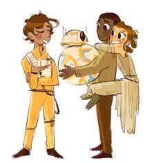 Everybody loves Finn - Stormpilot fanart from Star Wars Episode VII The Force Awakens