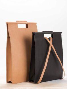 nude leather bag backpack Womens bag elegant bag by YaelHerman