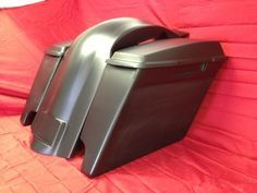"4"" Extended Stretched Saddlebags, Lids and Rear Fender for the Harley Davidson Touring Bikes / Road King, Electra Glide, Ultra Classic, Street Glide, Road Glide  - Fiberglass"