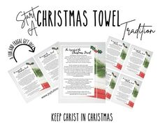 If you are looking for something to help tie in the true reason for the season - the Legend of the Christmas Towel might be for you! This Christmas printable is 3 pages long, with an 8.5 by 11 version, a 2-to-the-page version, and a page with 4 of them on it. When looking at Christmas printables, we Christmas Towels, Kids Christmas, Christmas Gifts, Christmas Decorations, Xmas, Operation Christmas, Decor Ideas, Gift Ideas, Christmas Printables