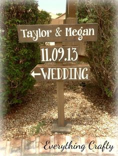 Wedding sign to put on the road so people know where to turn off.  Visit & Like our Facebook page! https://www.facebook.com/pages/Rustic-Farmhouse-Decor/636679889706127