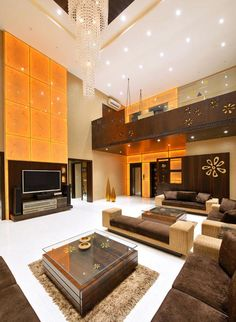 Bungalow in Mumbai 3 Storey House Design, Duplex House Design, Modern House Design, Hall Interior Design, Hall Design, Lobby Design, Living Room Sofa Design, Home Room Design, Style At Home