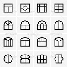Buy Window Icons by barbulat on GraphicRiver. Set of Window icons Vector Design, Web Design, Logo Design, Diy Projects Apartment, Home Studio Photography, Visiting Card Design, Ecommerce Logo, Print Fonts, Home Icon
