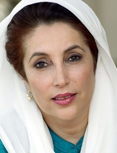 Benazir Bhutto - Pakistan - 2007. Fue la primera jefa de estado de un país musulmán entre  1988-1990, y 1993-1996. Fundó el Partido del Pueblo de Paquistán, y fue asesinada en el año 2008 tras ganar sus últimas elecciones.
