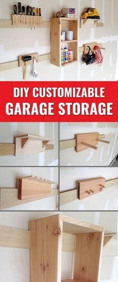To Use A French Cleat for Storage Solutions Keep your garage organized with these DIY, customizable storage solutions.Keep your garage organized with these DIY, customizable storage solutions. Garage Storage Solutions, Diy Garage Storage, Shed Storage, Garage Organization, Storage Ideas, Organization Ideas, Organized Garage, Storage Systems, Tool Wall Storage